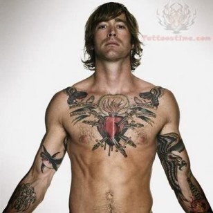 sacred-heart-tattoo-on-man-chest