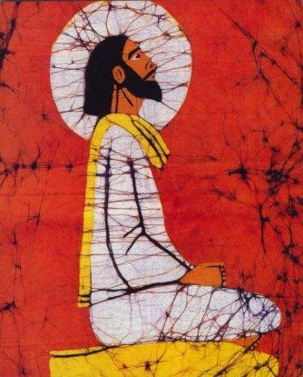 meditating Jesus