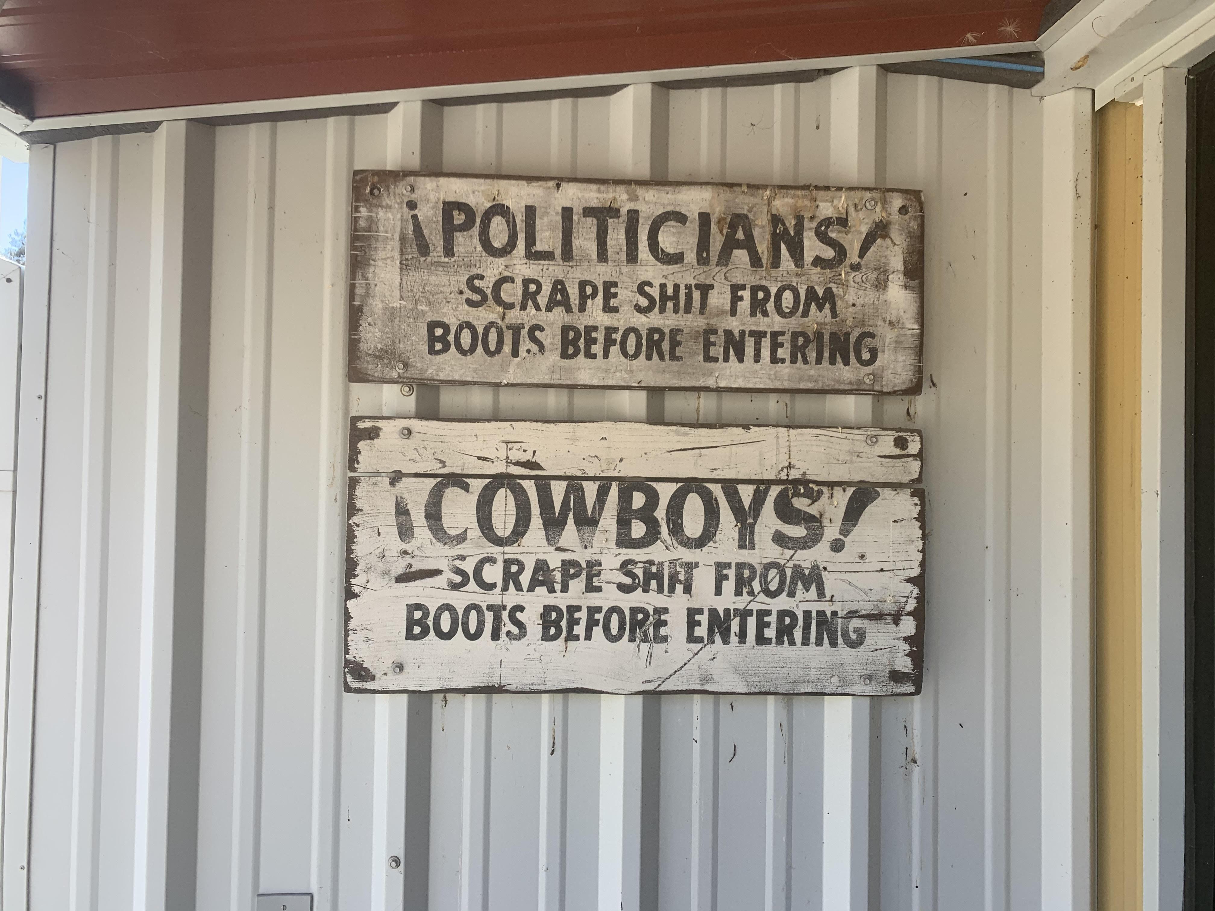 politicians and cowboys