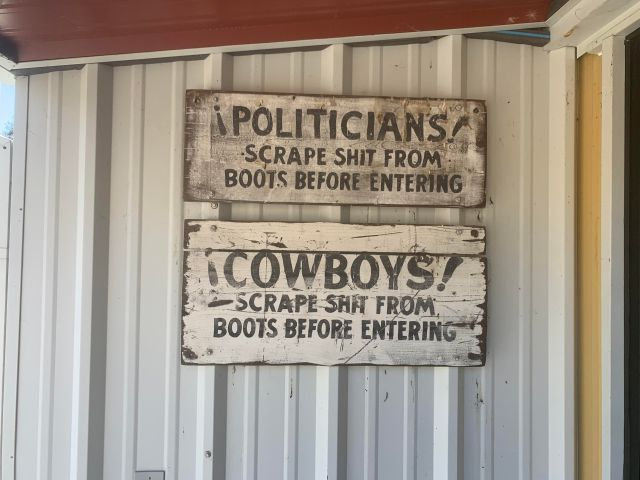 politicians and cowboys